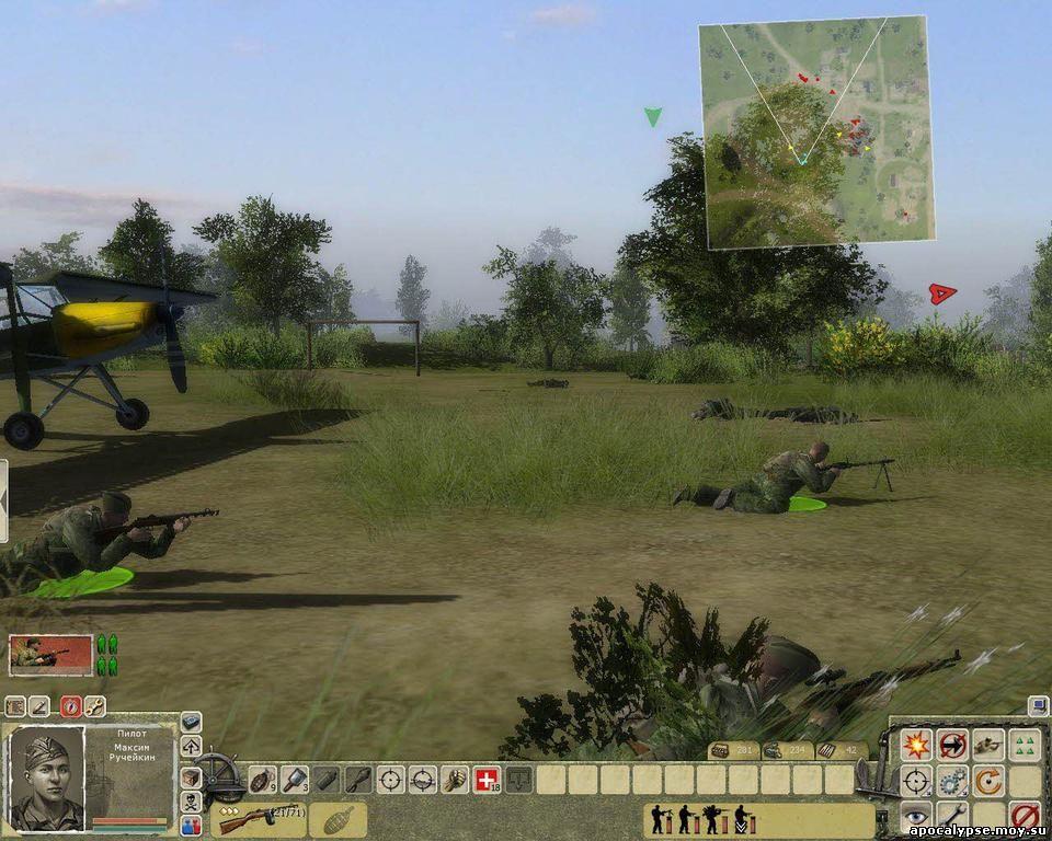 Мы лихо высадились с захваченных немецких самолетов прямо перед их штабом. Сейчас прибегут восхищенные встречающие!